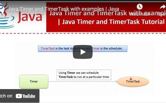 Video Post: Java Timer and TimerTask