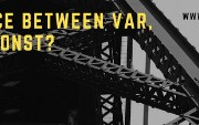 Difference Between var, let, and const Keywords in JavaScript